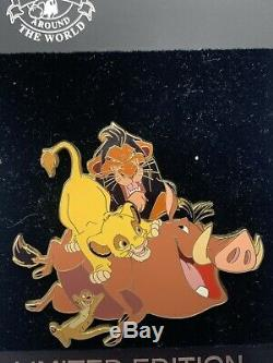 Disney Shopping Store The Lion King LE 350 Jumbo Pin Scar Simba Pumbaa Timon