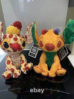 Disney Stitch Crashes Disney Soft Toy Plush Feb 2/12 & March 3/12 Both In Hand