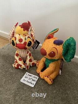 Disney Stitch Crashes Disney Soft Toy Plush Feb 2/12 & March 3/12 In Hand