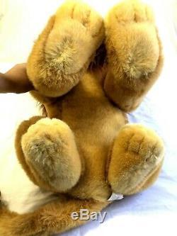 Disney Store 32 JUMBO Simba Large The Lion King Mufasa Stuffed Plush RARE