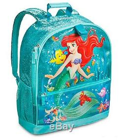 Disney Store Authentic The Little Mermaid Ariel School Backpack