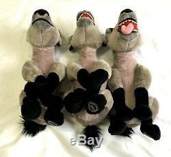 Disney Store Hyenas Lion King Plush Set 3 STAMPED Ed Banzai Shenzi RARE 14