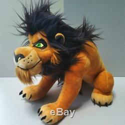 Disney Store Lion King Scar Plush Stuffed and Shinba mini towel Animal Doll