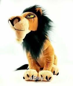 Disney Store Scar Plush Stuffed Animal The Lion King LARGE 18 STAMPED 2011 RARE