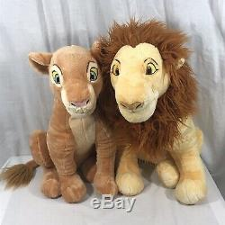 Disney Store Simba and Nala The Lion King Adult Plush Set 18 Set