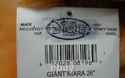 Disney Store Theme Parks GIANT KIARA 26 Stuffed Plush Lion King Simba's Pride