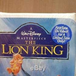 Disney The Lion King/König Der Löwen Masterpiece Limited Edition ungeöffnet VHS