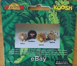 Disney The Lion King Koosh Rubber Ball PVC Character Figure Toy Set OddzOn 1994