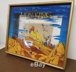 Disney The Lion King Movie Glass Picture / LE Limited Rare