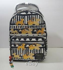 Disney The Lion King Simba Nala Loungefly Mini Backpack