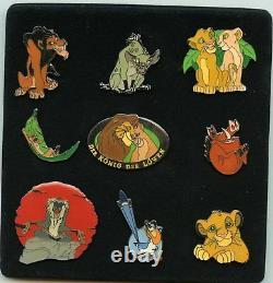 Disney The Lion King Simba Nala Scar Hyenas Rafiki Zazu Timon Pumbaa Box Pin Set