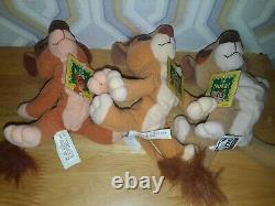 Disney The Lion King simba's Pride MATTEL 1998 Beanie plush set KOVU/VITANI/NUKA