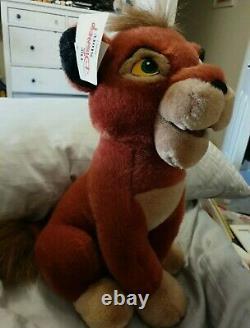 Disney VTG RETRO Lion King Sitting KOVU ULTRA RARE PLUSH toyl NEW with Tags
