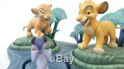 Disney WDCC 1228059 Lion King Simba, Nala and Zazu Set with Base withCOA