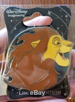 Disney WDI Pin Simba Profile LE 250 The Lion King Hero MOG Imagineering