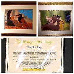 Disney cel the lion king set of 2 framed cel rare animation art edition cells