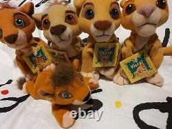 Disney rare lion King kovu vitani nuka kiara soft plush toys tagged