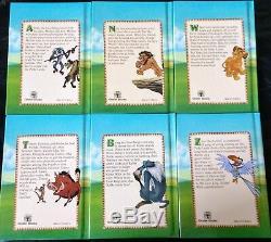 Disney's Lion King Children's Book Set 1-6 1994 Vintage Hard Cover