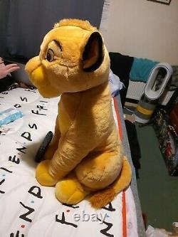 Disney vintage rare huge big jumbo 26 simba lion King soft plush toy