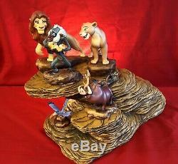 Disneys Lion King WDCC Set With RARE Martine Millan Pride Rock Base COAs