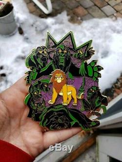 Disneys The Lion King Night Terrors And Day Dreams Fantasy Pin LE 50 Adult Simba