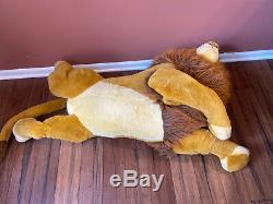 EUC Douglas Co Disney Nestle Huge Jumbo Lion King Stuffed Simba Mufasa 90s Plus