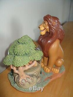 Extremely Rare Disney Store USA Lion King Mufasa Simba RETIRED musical Snowglobe