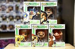 Funko Pop Disney The Lion King Complete Set Of Vaulted Retired HTF
