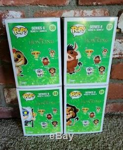 Funko Pop Disney The Lion King Set Of 4 Vaulted Scar, Timon, Pumbaa, Rafiki