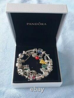 Genuine Disney Lion King Pandora Charm Bracelet with 21 charms