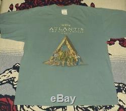 June 2001 Disney Atlantis Promo Movie Shirt Vintage Tee Hercules Lion King