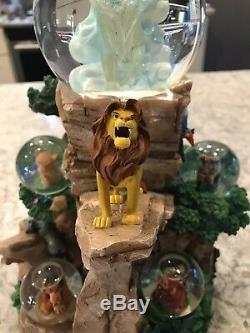 LE500 Lion King Disney Pride Rock Snow Globe RARE Disney Auctions