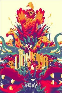 LION KING MONDO DISNEY R2017 limited edition print 400 MATT TAYLOR 24x36
