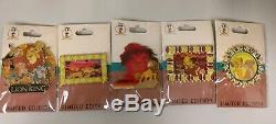 Limited Disney Employee Center (DEC) Lion King FULL 5 Pin Set LE 250 Cluster NEW