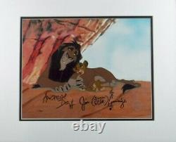Lion King Disney Cel Scheming Scar Hand signed Andreas Deja Sericel Jim Cummings
