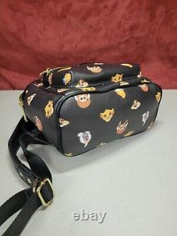 Lion King Disney Loungefly Mini backpack Simba Timon Mini Heads Rare Retired