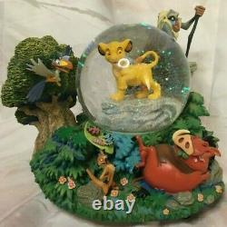 Lion King I Just Can't Wait to Be King Rare Simba Musical Snow Globe