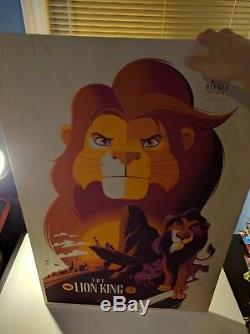 Lion King Mondo Wood Variant Tom Whalen Disney Pixar Print Poster Art Simba
