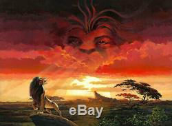 Lion King Remember Who You Are Rodel Gonzalez LE 195 22x30 Canvas Signed Disney