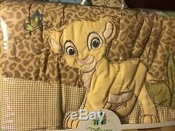 Lion King Simba's Wild Adventure 7 Piece Nursery Crib Bedding Set BRU Exclusive
