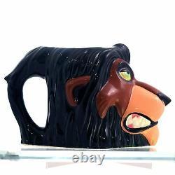 Lion King, The NEW Scar Figural Mug 3D cup Disney movie Rare Vintage Applause
