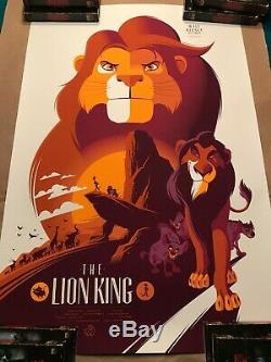 Lion King Tom Whalen Gallery 1988 Mondo Alamo Drafthouse Disney Print Art