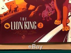 Lion King Tom Whalen Gallery 1988 Mondo Alamo Drafthouse Disney Print Art Mint