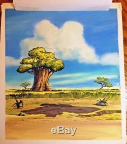 Lion King original book cover art Rafiki's Quiz Disney cel background Simba