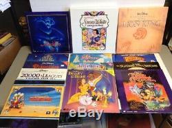 Lot of 13 Rare Disney Laserdiscs Lion King Snow White Deluxe CAV (SOME SEALED)