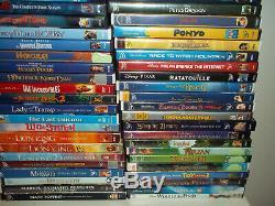 Lot of Disney Pixar DVDs 85 movies Lion King Pirates Tarzan Miyazaki Ghibli