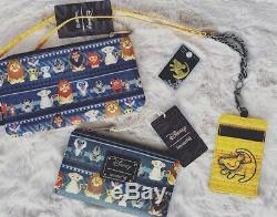 Loungefly Disney Lion King Mini & Full Backpack Tribal Print Simba & Nala NWOT