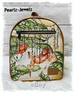 Loungefly Disney Lion King Simba Pumba Timon Hanging on Vines Mini Backpack NWOT