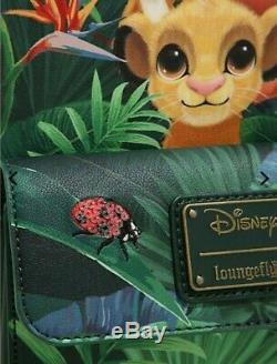 Loungefly Disney The Lion King Mini Backpack Tropical Simba, Pumbaa, Timon NEW