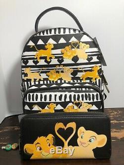 Loungefly Disney The Lion King Simba & Nala Mini Backpack Wallet Set NWT